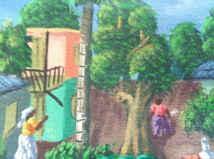 Detail from a Haitian Painting